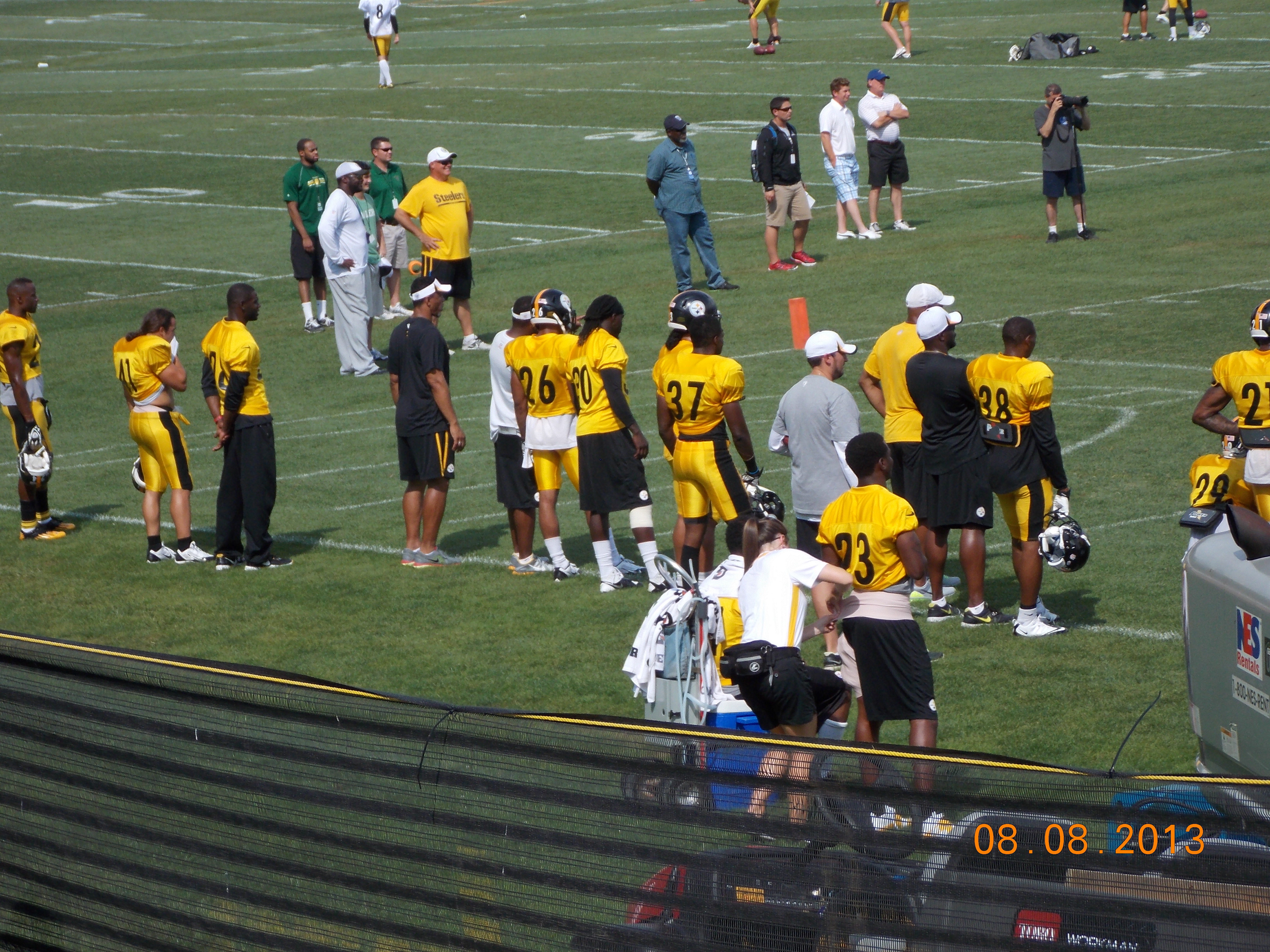 image Steelers training camp down time